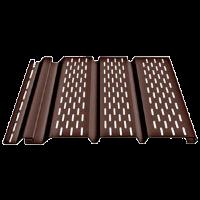 Соффит Docke перфорированный, 1,85 м, Цвет шоколад