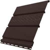 Софиты Ю-пласт цвет шоколадный c частичной перфорацией