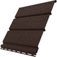 Софиты Ю-пласт цвет шоколадный c полной перфорацией