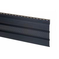 Софит АйДахо (панель, карнизная подшивка), перфорированный, графитовый, 3 м, 0,90 м2