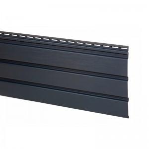 Софит АйДахо (панель, карнизная подшивка), без перфорации, графитовый, 3 м, 0,90 м2