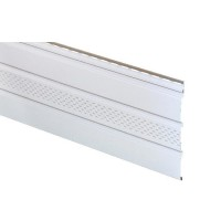 Софит АйДахо (панель, карнизная подшивка), перфорированный, белый, 3 м, 0,90 м2