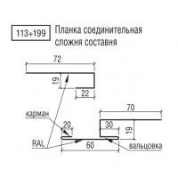 Планка соединительная ТермаСтил сложная составная, 113+199