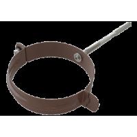 Хомут трубы L 160 водосточной системы Alta-Profil (Альта-Профиль), шоколадный, металл