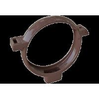 Хомут трубы водосточной системы Alta-Profil, ПВХ, коричневый