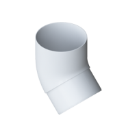Колено трубы 45° водосточной системы Alta-Profil, ПВХ, белый