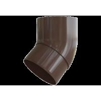Колено трубы 45° водосточной системы Alta-Profil, ПВХ, коричневый