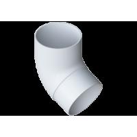 Колено трубы 67° водосточной системы Alta-Profil, ПВХ, белый