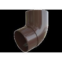 Колено трубы 67° водосточной системы Alta-Profil, ПВХ, коричневый