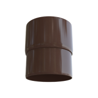 Муфта трубы водосточной системы Alta-Profil (Альта-Профиль), ПВХ, коричневый