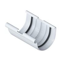 Муфта желоба водосточной системы Alta-Profil, ПВХ, белый