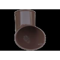 Слив трубы водосточной системы Alta-Profil, ПВХ, коричневый