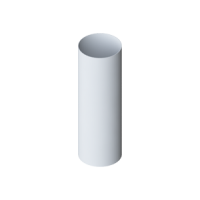 Труба водосточной системы Alta-Profil, ПВХ, 3 м., белый