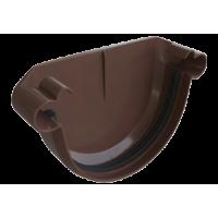 Заглушка водосточной системы Alta-Profil, ПВХ, коричневый