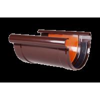 Соединитель желоба с вкладкой для водосточной системы Profil, 90 мм