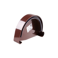 Заглушка желоба левая для водосточной системы Profil (Профиль), 130 мм