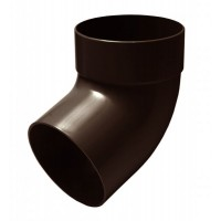 Отвод одномуфтовый 67° для водосточной системы Rainway (Ренвей), 90 мм