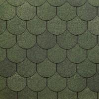 Битумная черепица Кольчуга, серия SIMPLE, зелёный