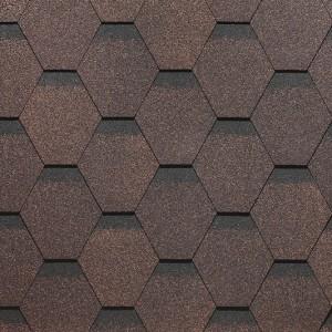 Битумная черепица Сота, серия SIMPLE, коричневый