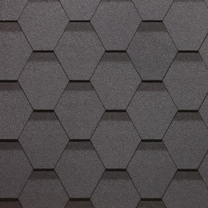 Битумная черепица Сота, серия SIMPLE, серый