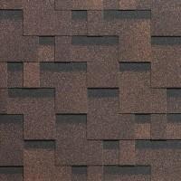 Битумная черепица Тетрис, серия SIMPLE, коричневый