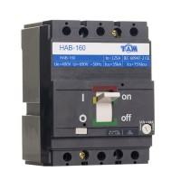 Автоматический выключатель силовой 125А, HAB160-3P