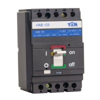 Автоматический выключатель силовой 80А, HAB125-3P