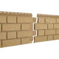 Фасадная панель Ю-ПЛАСТ Stone-House S-Lock Клинкер Горчичный