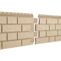 Фасадная панель Ю-ПЛАСТ Stone-House S-Lock Клинкер Песочный