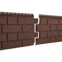 Фасадная панель Ю-ПЛАСТ Stone-House S-Lock Клинкер Терракотовый