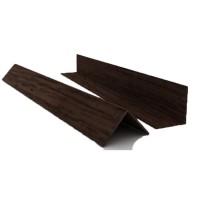 Уголок пластиковый 10х10 Цветной/Дерево 10мм