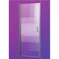 Душевая дверь Sansa SH-706, профиль brushed, стекло 6 мм прозрачное-lines, 90x185 см