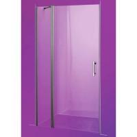 Душевая дверь Sansa SH-707, рама brushed, стекло прозрачное 6 мм, 100x185 см