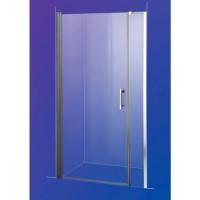 Душевая дверь Sansa SH-708, профиль brushed, стекло прозрачное 6мм, 100x185 см