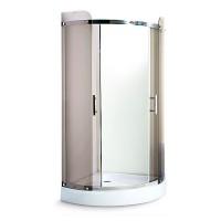 Душевой угол Miracle TS3014, профиль хром, стекло чайное, 100х100х211 см