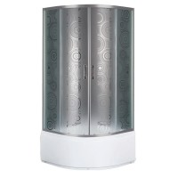Душевой угол Sansa SH-90/45, профиль brushed, стекло матовое-sharm, 90х90х210 см