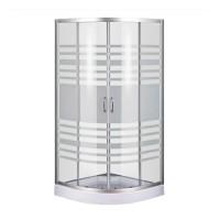 Душевой угол Sansa S-90/15 (2), профиль сатин, стекло прозрачное-lines, 90х90х194 см