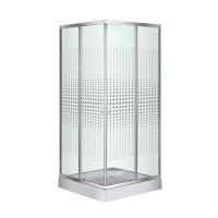 Душевой угол Sansa S-90S/15, профиль сатин, стекло прозрачное-мозаик, 90х90х194 см