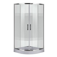Душевой угол Sansa SH-90/15, профиль brushed, стекло прозрачное-lines, 90х90х210 см