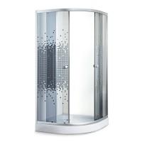 Душевой угол Sansa S-90/15, профиль сатин, стекло серое-мозаик, 90х90х194 см