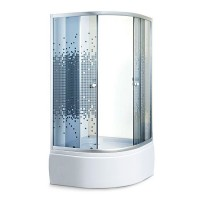 Душевой угол Sansa S-90/40, профиль сатин, стекло серое-мозаик, 90х90х200 см