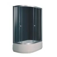 Душевой угол Sansa S120-80/45R, профиль сатин, стекло шиншилла, 120х80х197 см