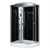 Гидробокс Fabio TMS-886/15 L c электроникой, профиль сатин, стекло серое, заднее стекло черное, 120x80x215 см