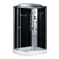 Гидробокс Fabio TMS-886/15 R c электроникой, профиль сатин, стекло серое, заднее стекло черное, 120x80x215 см