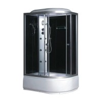 Гидробокс Fabio TMS-886/40 L c электроникой, профиль сатин, стекло серое, заднее стекло черное, 120x80x215 см