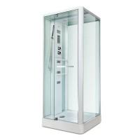 Гидробокс Miracle NA112-3, профиль белый, стекло прозрачное, задняя стенка и крыша белые, 80х100х215 см