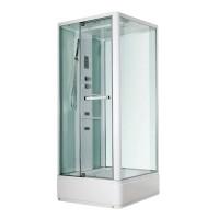 Гидробокс Miracle NA114-3, профиль белый, стекло прозрачное, задняя стенка и крыша белые, 80х100х215 см
