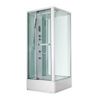 Гидробокс Miracle NA115-3, профиль белый, стекло прозрачное, задняя стенка и крыша белые, 90х110х215 см