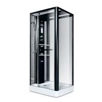 Гидробокс Miracle NA112-3A, профиль черный, стекло прозрачное, задняя стенка и крыша зеркальные, 80х100х215 см