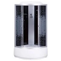 Гидробокс Sansa 6690A, профиль сатин, стекло серое мозаик, 100x100(40)x215 см